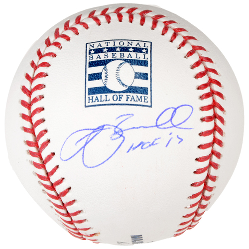 Photo of Jeff Bagwell Houston Astros Autographed Hall of Fame Logo Baseball with HOF 17 Inscription