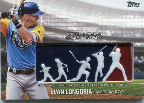 Photo of 2018 Topps Players Weekend Patches #PWPEL Evan Longoria