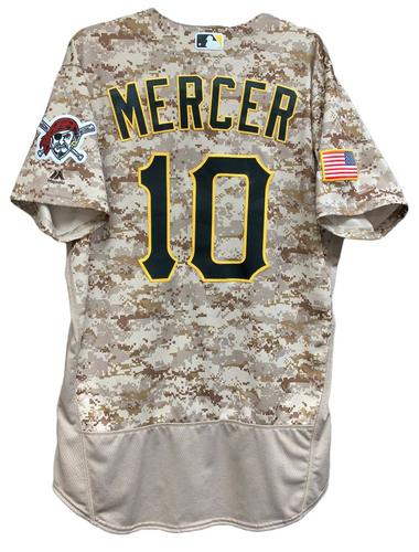 Photo of Jordy Mercer 2017 Game-Used Camo Jersey