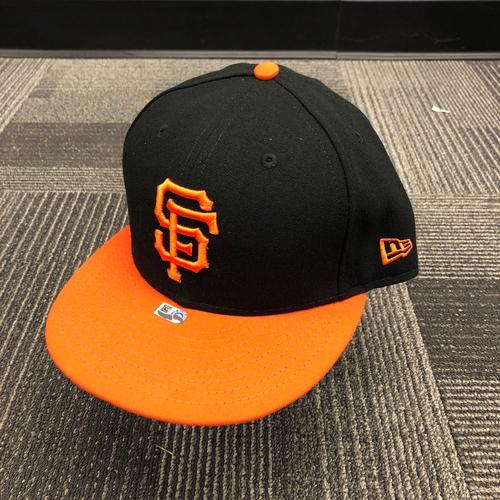 Photo of 2018 Team Issued Orange Bill Cap - #51 Mac Williamson - Size 7 3/8