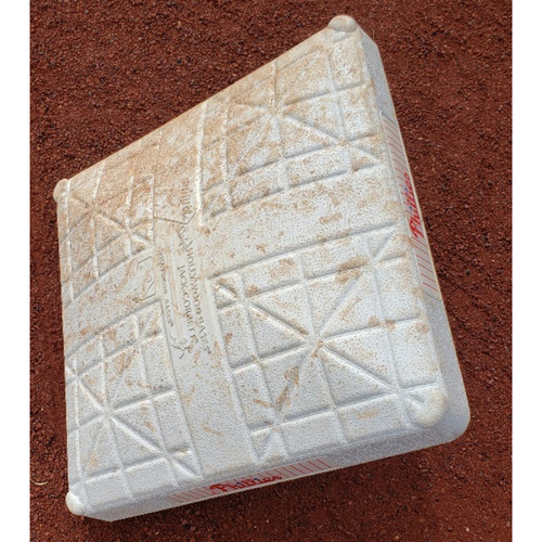Photo of Game-Used 2nd base from Jimmy Rollins' 445th career double