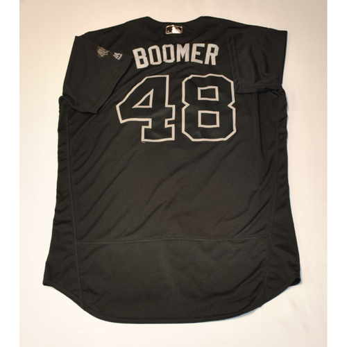 "Photo of Anthony ""BOOMER"" Bemboom Los Angeles Angels Game-Used 2019 Players' Weekend Jersey"