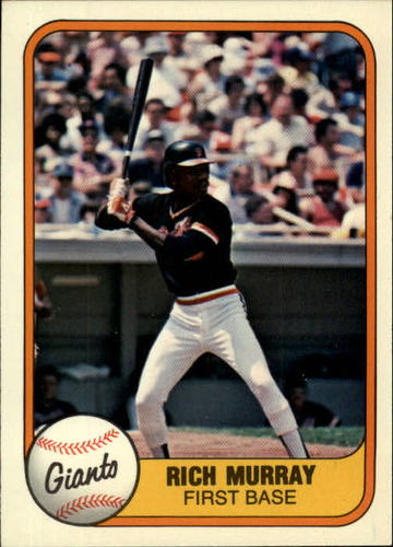 Photo of 1981 Fleer #452 Rich Murray RC