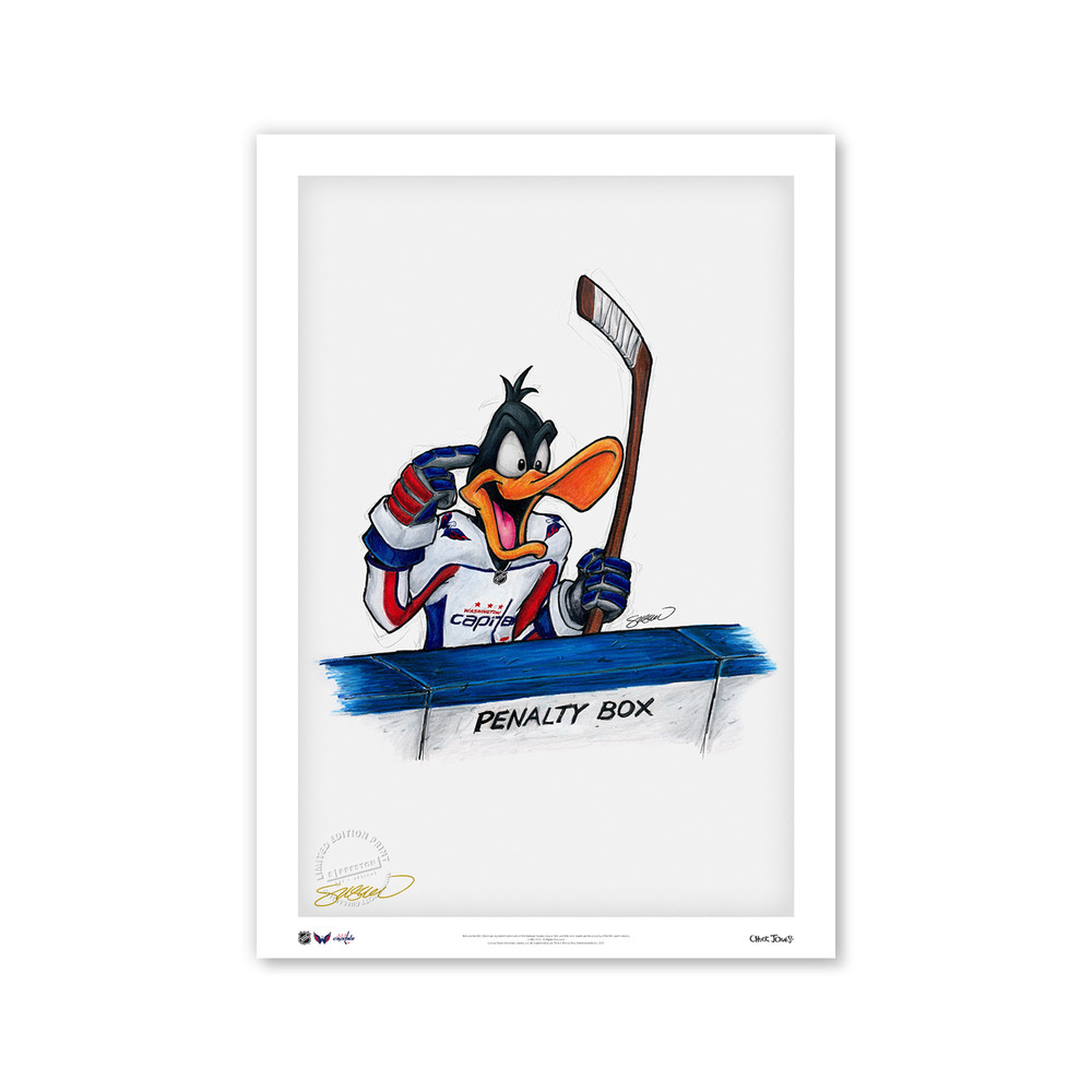 Washington Capitals Minimalist NHL Logo Limited Edition Art Print by S. Preston