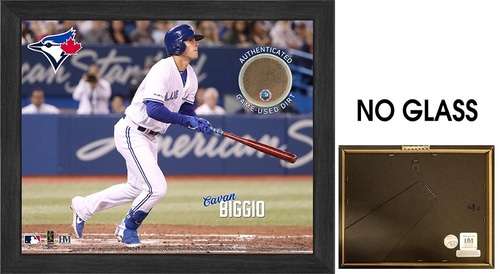 "Photo of Toronto Blue Jays 9"" by 11"" Cavan Biggio Frame with Game Used Dirt by Highland Mint"
