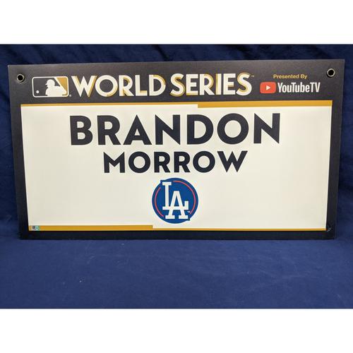 Photo of Team-Issued Brandon Morrow 2017 World Series Media Sign