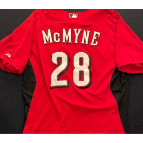 Photo of MCMYNE -- Authentic Reds Jersey -- $1 Jersey Auction -- $5 Shipping -- Size 46 (Not MLB Authenticated)