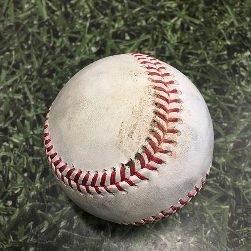 Photo of Game-Used Baseball SD@MIL 05/25/21 - Corbin Burnes - Fernando Tatis Jr: Strikeout