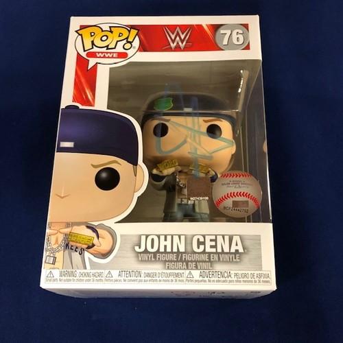 John Cena SIGNED POP! Vinyl Figure.