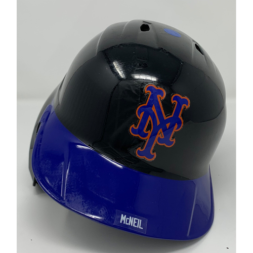 Photo of Jeff McNeil #6 - Game Used Batting Helmet with American Flag Decal - 20th Anniversary Ceremony of 9/11/2001 - 1-3, BB, 1 Run Scored - Mets vs. Yankees - 9/11/21