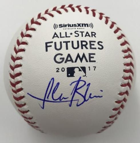 Photo of Lewis Brinson Autographed 2017 Futures Game Logo Baseball