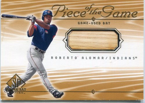 Photo of 2001 SP Game Bat Edition Piece of the Game Roberto Alomar bat -- Hall of Famer