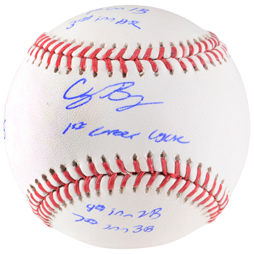 Photo of Cody Bellinger Los Angeles Dodgers Autographed Baseball with Cycle Stat Inscriptions - Limited Edition of 35