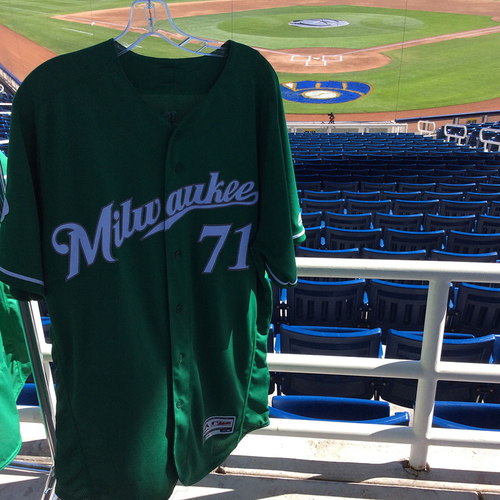 Photo of Josh Hader Team-Issued 2018 St. Patrick's Day Jersey