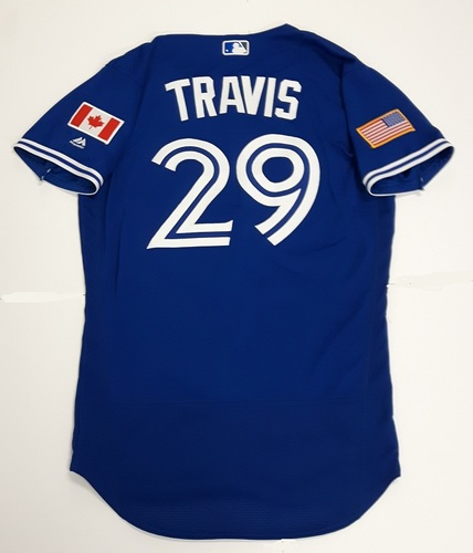 Photo of Authenticated Game Used 2018 Independence Day Jersey (July 4, 2018) - #29 Devon Travis. Size 42.