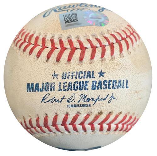 Photo of Game-Used Baseball from Pirates vs. Cubs on 5/29/18 - Jason Heyward RBI Single