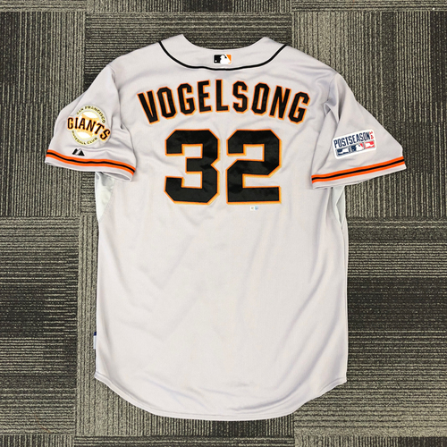 Photo of 2014 Postseason Game Used Jersey - NLCS Game 1 @ St. Louis Cardinals - Used by #32 Ryan Vogelsong - Size 50
