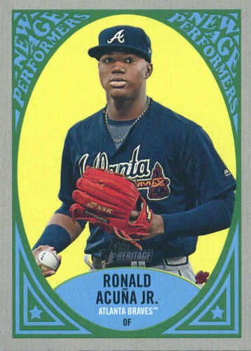 Photo of 2019 Topps Heritage New Age Performers #NAP17 Ronald Acuna Jr.
