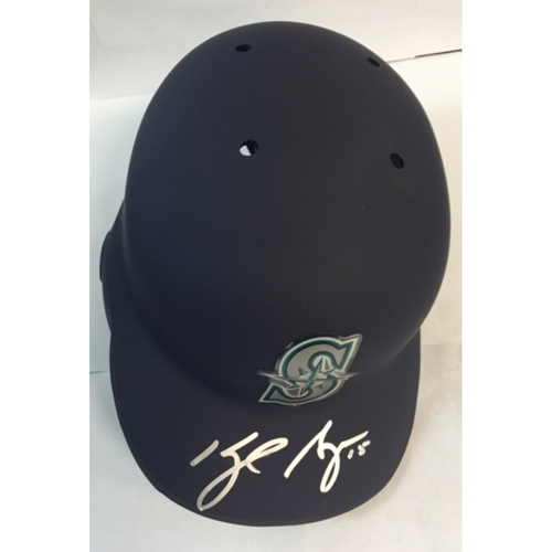 Photo of Kyle Seager Autographed Mariners Batting Helmet