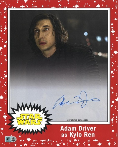 Adam Driver # to 1 Red Autographed Oversized Trading Card