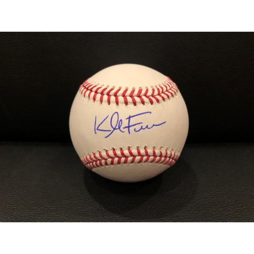 Photo of Reds Authentics: Kyle Farmer -- Autographed Baseball