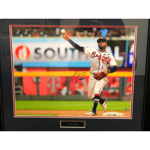 Photo of Ozzie Albies Autographed Framed Photo