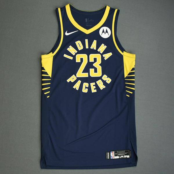 Image of JaKeenan Gant - Indiana Pacers - Game-Worn Icon Edition Jersey - NBA India Games - Dressed, Did Not Play - 2019-20 NBA Season
