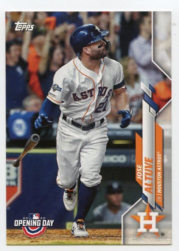 Photo of 2020 Topps Opening Day #89 Jose Altuve