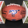 Panthers - Christian McCaffrey signed NFL 100 logo authentic football with Panthers logo