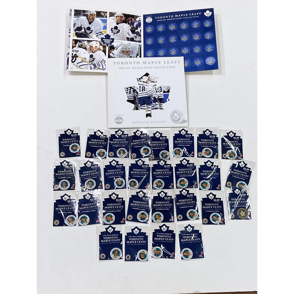 Toronto Maple Leafs 2002-03 Medallion Collection Set
