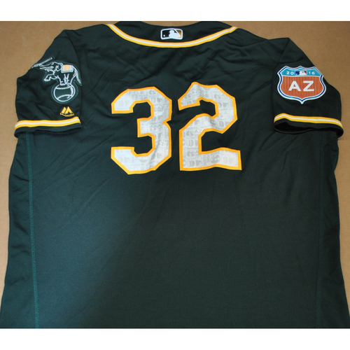 Photo of Game-Used 2016 Spring Training Jersey - Jesse Hahn - Size 48 - Oakland Athletics