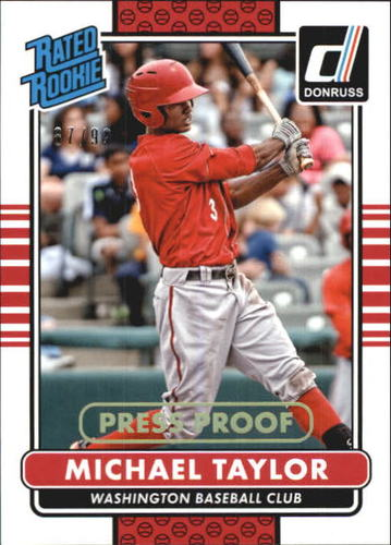 Photo of 2015 Donruss Press Proofs Gold #38 Michael Taylor RR