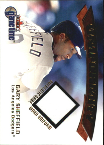 Photo of 2001 Fleer Game Time Uniformity #19 Gary Sheffield
