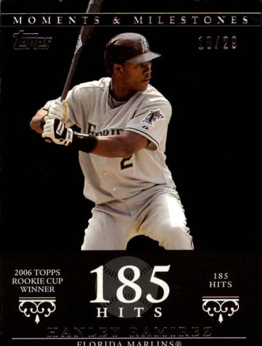 Photo of 2007 Topps Moments and Milestones Black #72-185 Hanley Ramirez/Hits 185