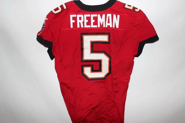 NFL Auction | JOSH FREEMAN GAME WORN BUCCANEERS JERSEY DECEMEMBER 2012