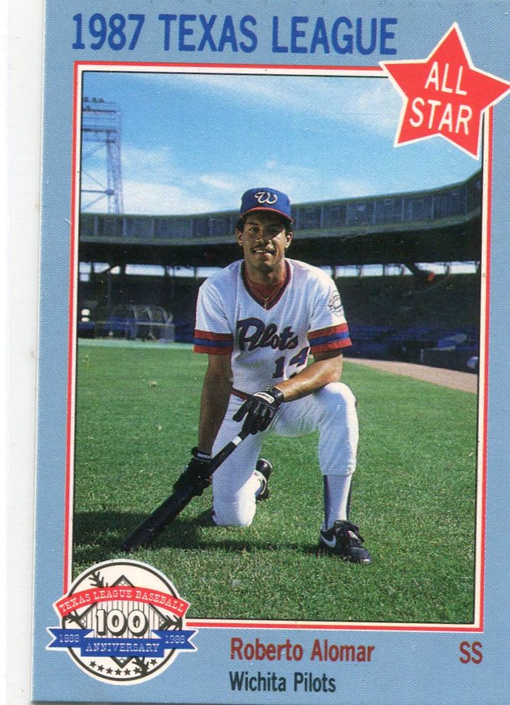 1987 Texas League All-Stars Feder #8 Roberto Alomar