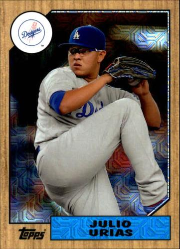 Photo of 2017 Topps '87 Topps Silver Pack Chrome #87JU Julio Urias