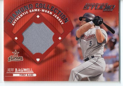 Photo of 2001 Studio Diamond Collection Jeff Bagwell Jersey -- Hall of Famer