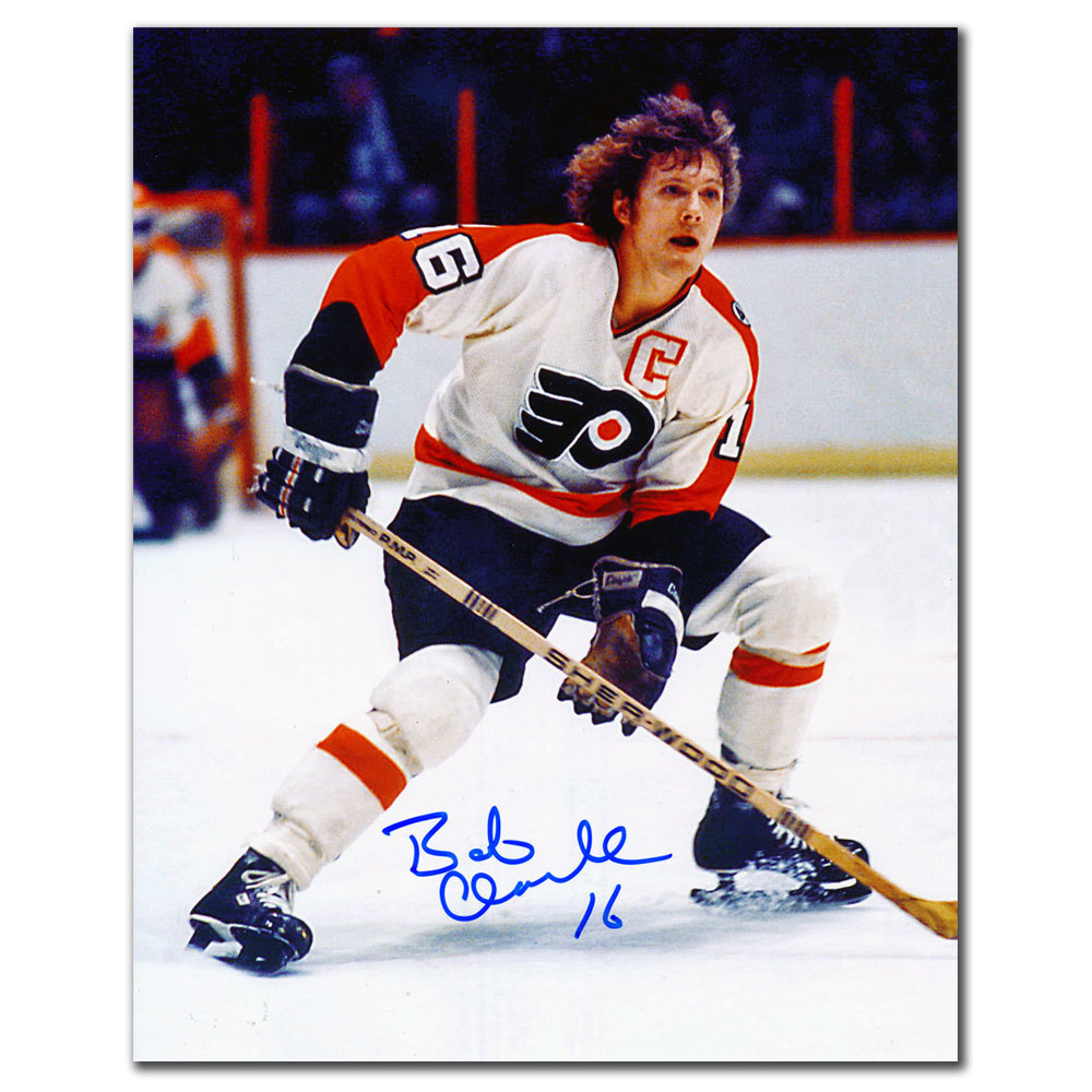 Bobby Clarke Philadelphia Flyers PLAYMAKER Autographed 8x10
