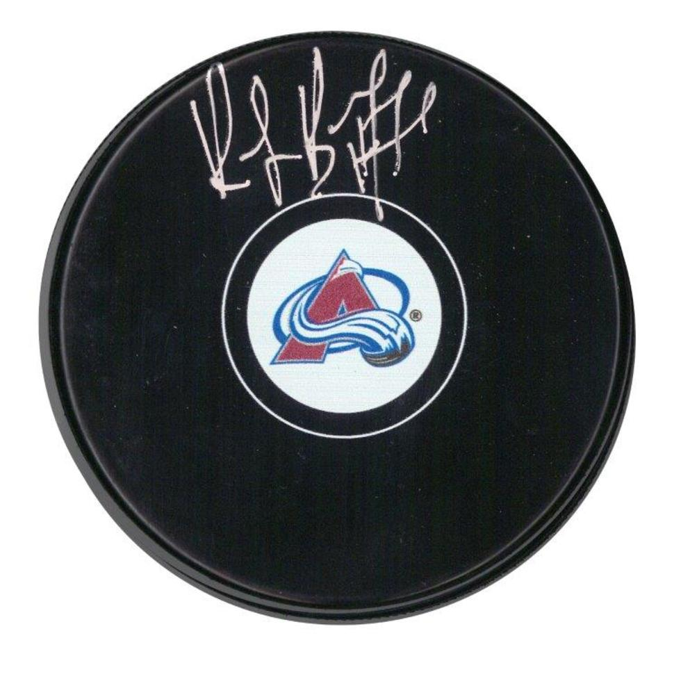 Ray Bourque Signed Puck Avalanche