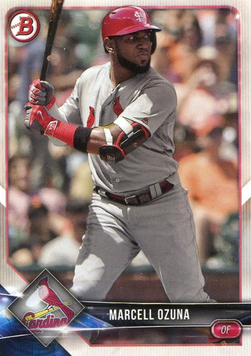 Photo of 2018 Bowman #51 Marcell Ozuna