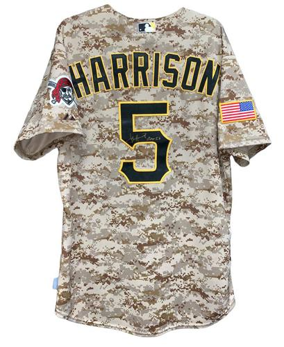 Photo of Josh Harrison 2015 Autographed Game-Used Camo Jersey