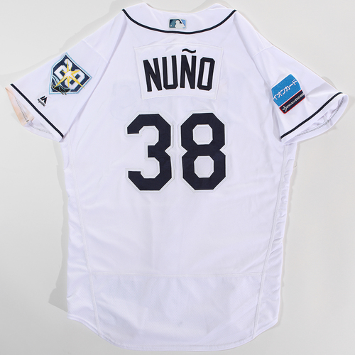 Photo of 2018 Japan Series Game-Used Jersey - Vidal Nuno - Size 46