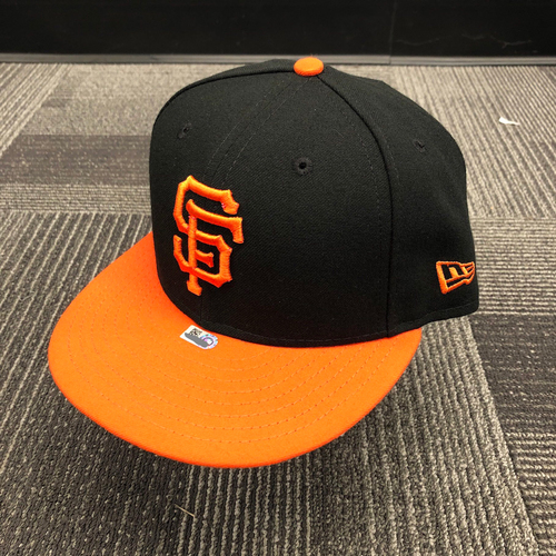 Photo of 2018 Game Used Orange Bill Cap worn by #34 Chris Stratton - Size 7 1/4