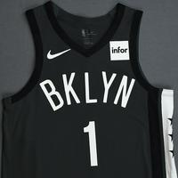 D'Angelo Russell - Brooklyn Nets - 2018-19 Season - Game-Worn Gray Statement Edition Jersey