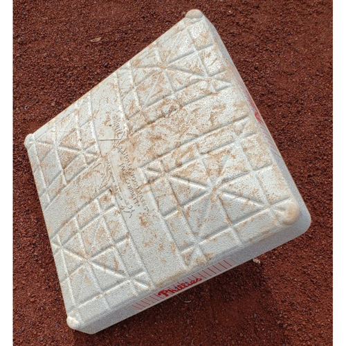 Photo of Game-Used 2nd base from Jimmy Rollins' 451st career double