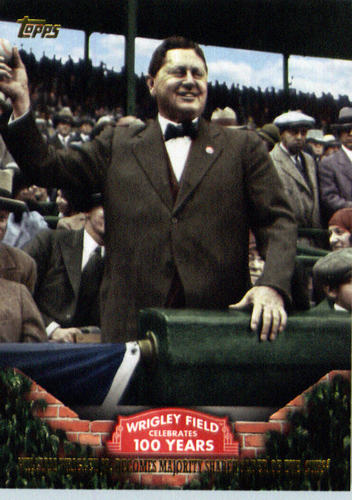 Photo of 2016 Topps 100 Years at Wrigley Field #WRIG18 William Wrigley Jr. becomes majority shareholder of th
