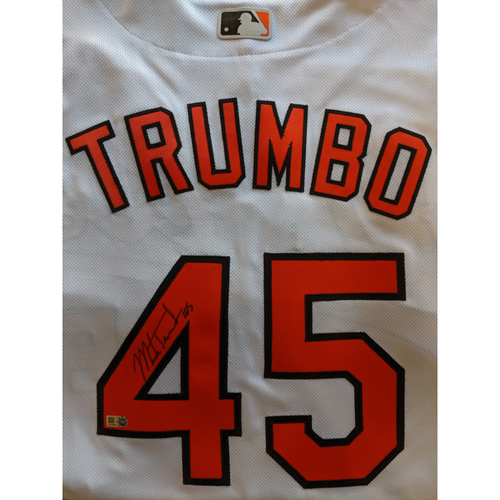 Photo of Mark Trumbo - Home Jersey: Autographed (Size 44)