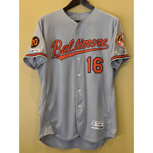 Photo of Trey Mancini - Road Jersey: Game-Used (HR, Worn for Two Games)