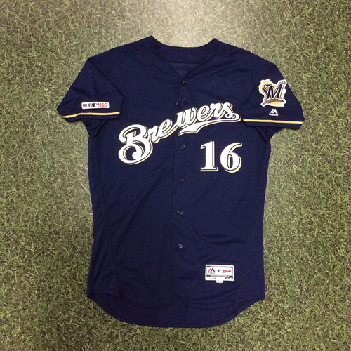 Photo of Ben Gamel 2019 Game-Used Navy Alternate Jersey